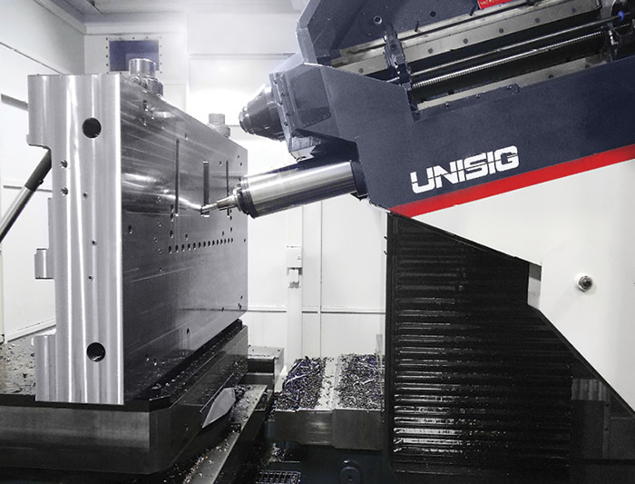 Some angled holes call for complex, compound angles that have matching geometry with other machined features. A drill bushing ground with these special angles is not practical or economical in these cases. Image courtesy Unisig.